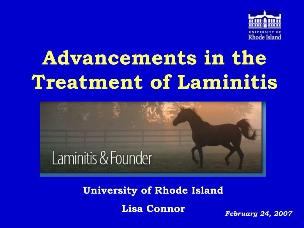 advancements in the treatment of laminitis l.