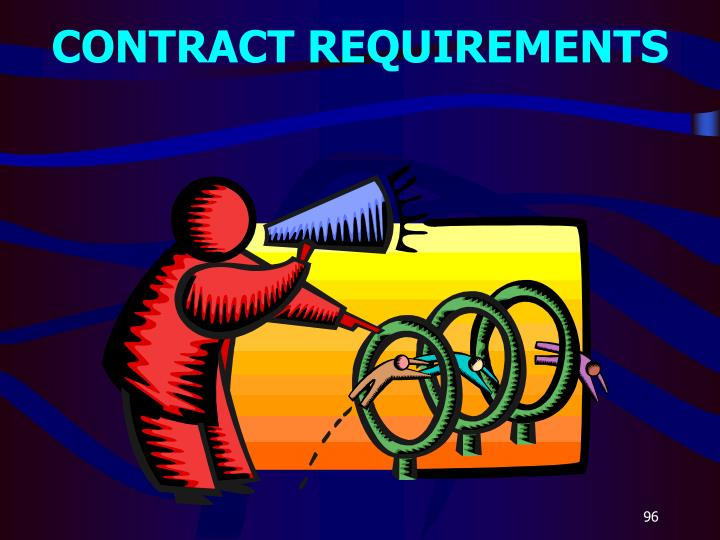 Contract requirements3