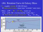 4b rotation curve galaxy mass