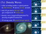 7c density waves