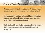who are youth advocates