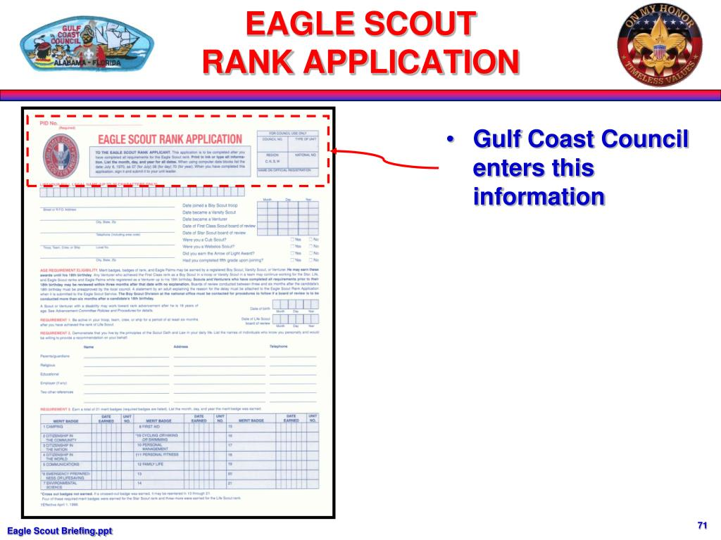 Gulf Coast Council enters this information