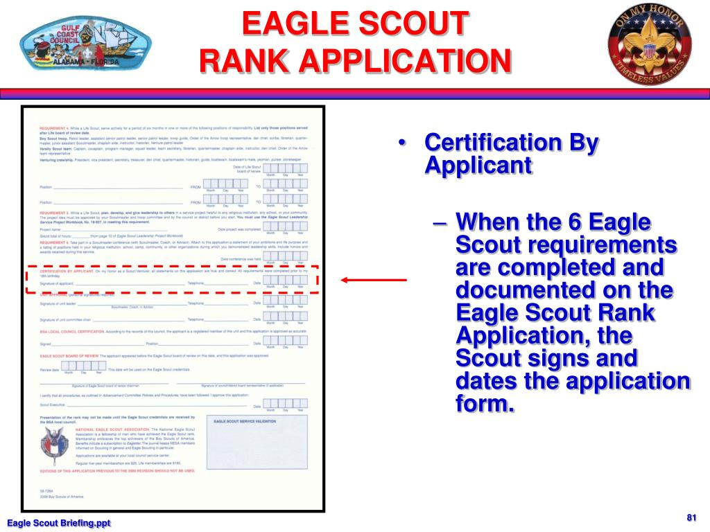 Certification By Applicant