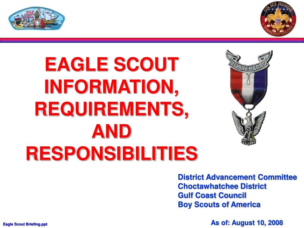EAGLE SCOUT INFORMATION, REQUIREMENTS,