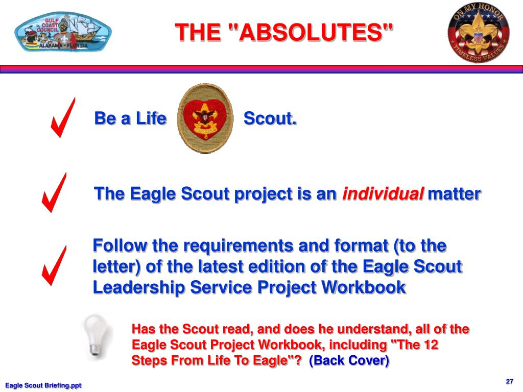 Be a Life                Scout.