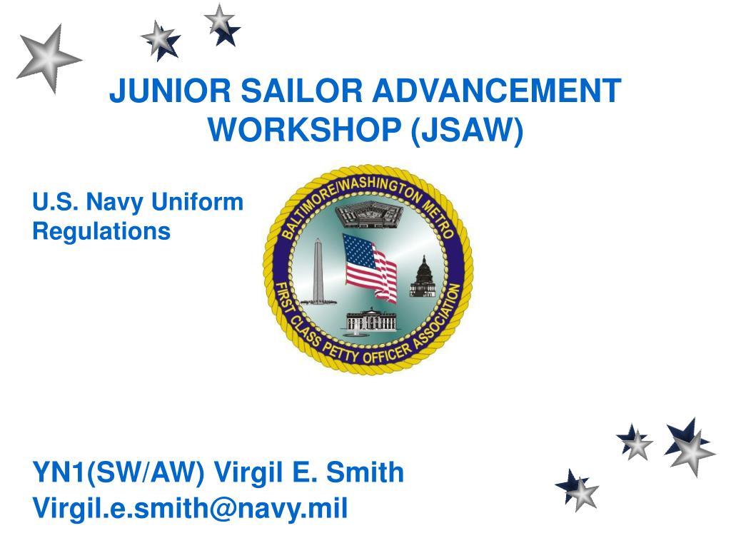 junior sailor advancement workshop jsaw l.