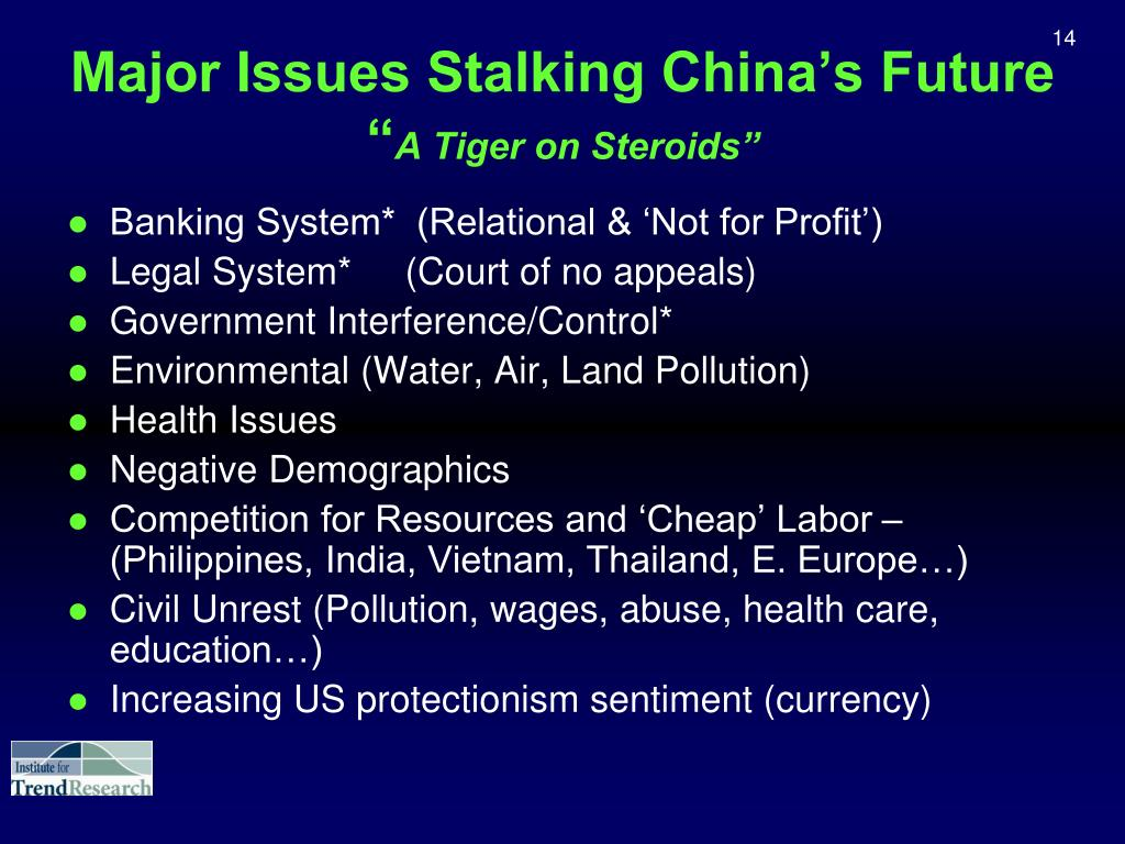 Major Issues Stalking China's Future