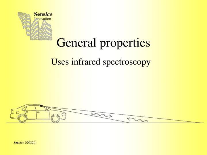 General properties