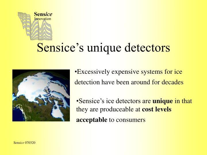 Sensice's unique detectors