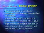 problems with meat excess protein