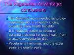 the vegetarian advantage conclusions44