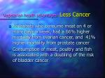vegetarian health advantages less cancer