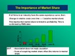 the importance of market share