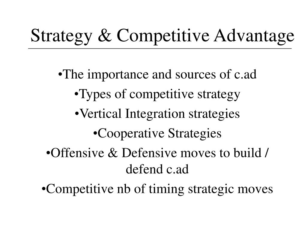 strategy competitive advantage l.