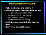 environment for study