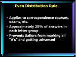 even distribution rule
