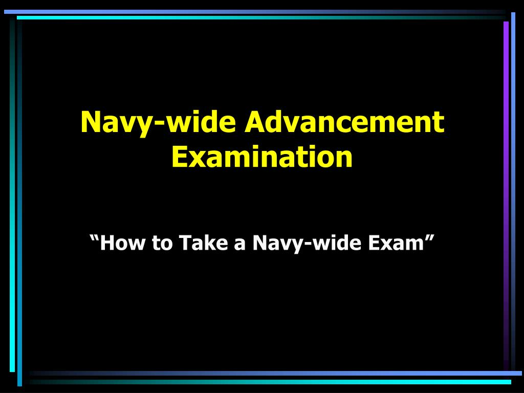 navy wide advancement examination l.