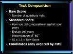 test composition