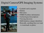 digital camera gps imaging systems