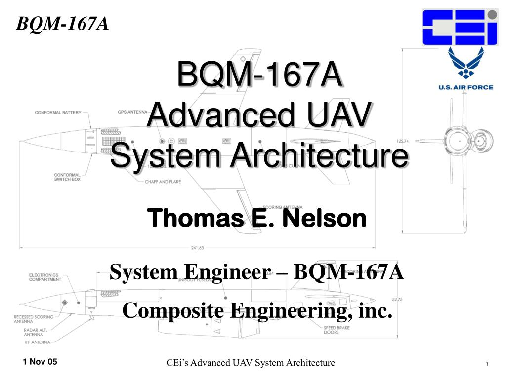 bqm 167a advanced uav system architecture l.