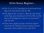 32 bit status register34