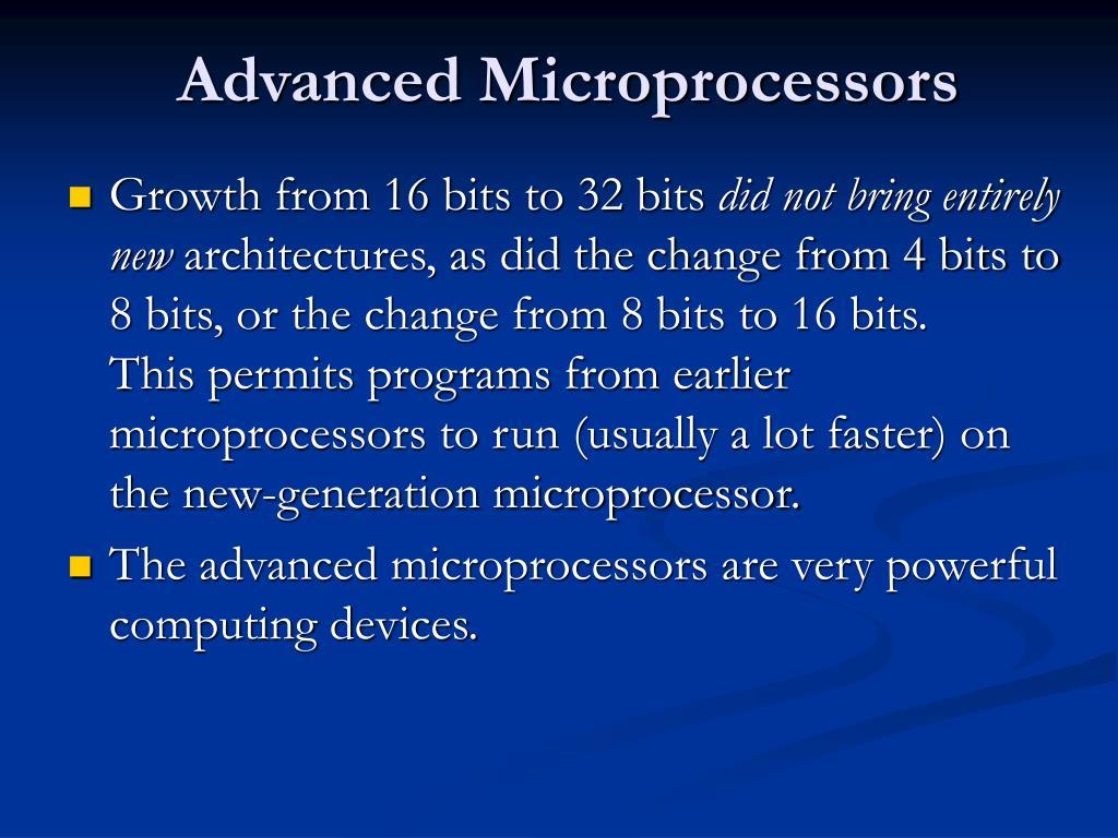 advanced microprocessors l.