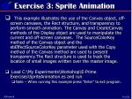 exercise 3 sprite animation