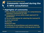 comments received during the a npa consultation11
