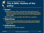 the a npa outline of the policy