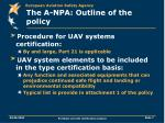 the a npa outline of the policy7