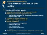 the a npa outline of the policy8