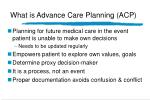 what is advance care planning acp