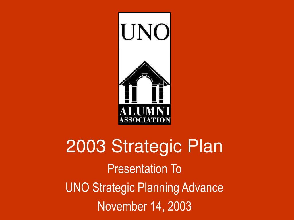 2003 strategic plan l.