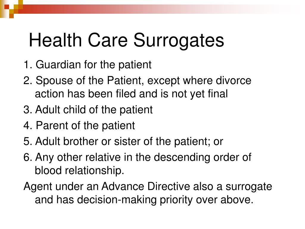Health Care Surrogates