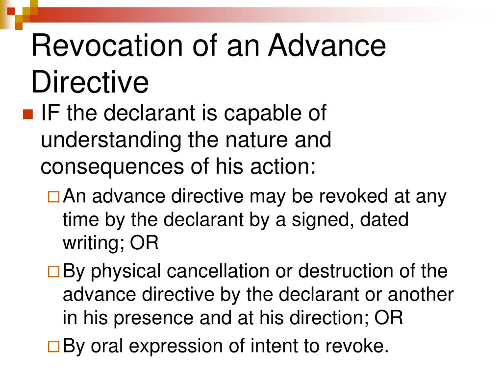 Revocation of an Advance Directive