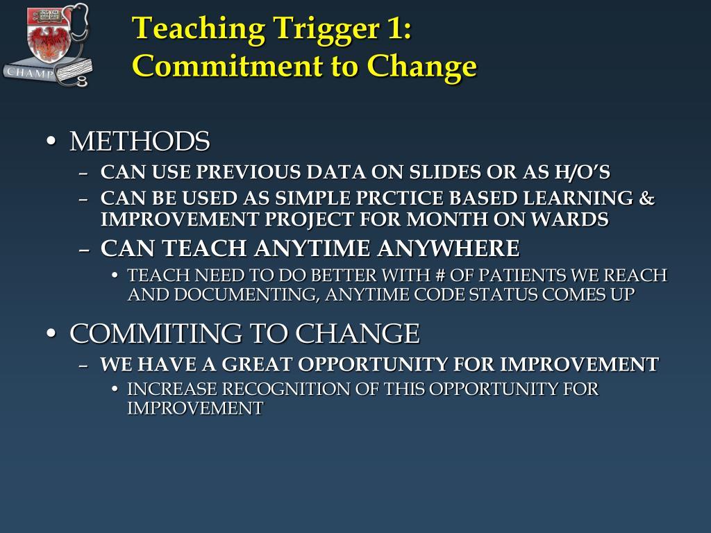 Teaching Trigger 1: