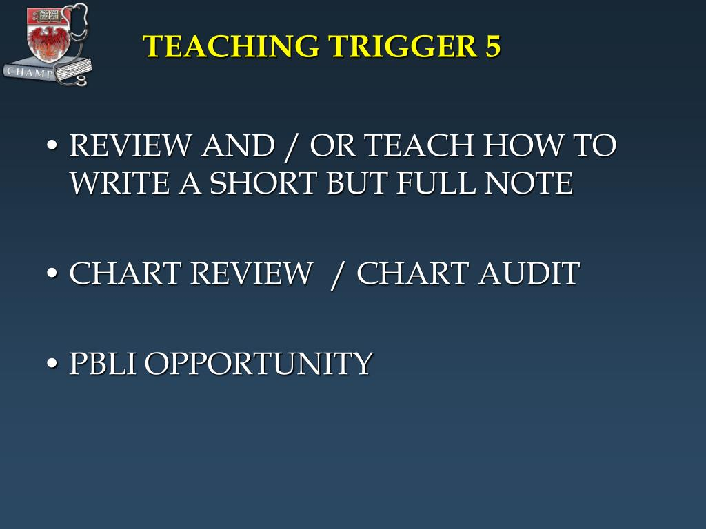TEACHING TRIGGER 5
