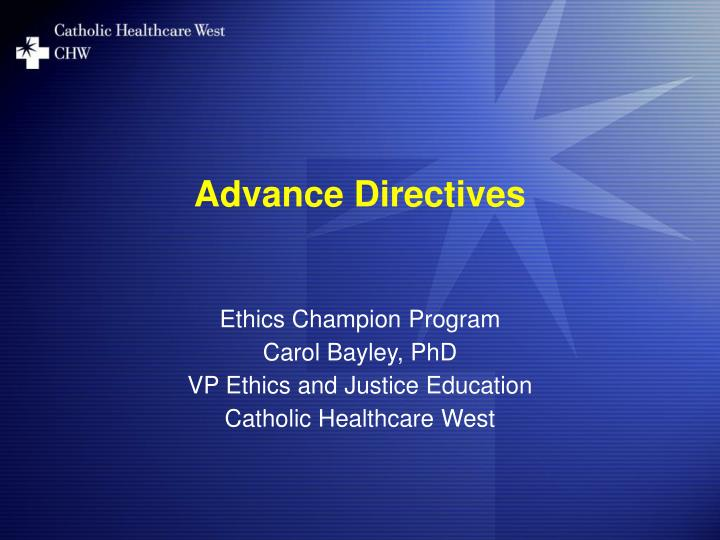 advance directives n.