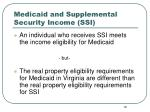 medicaid and supplemental security income ssi19