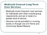 medicaid covered long term care services