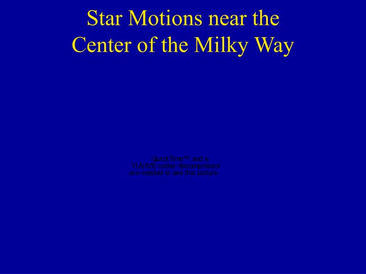 Star Motions near the