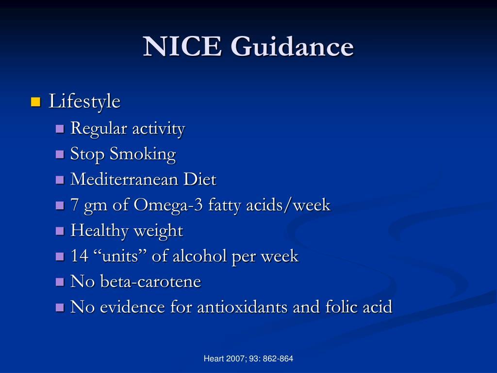NICE Guidance