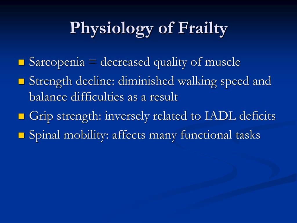 Physiology of Frailty