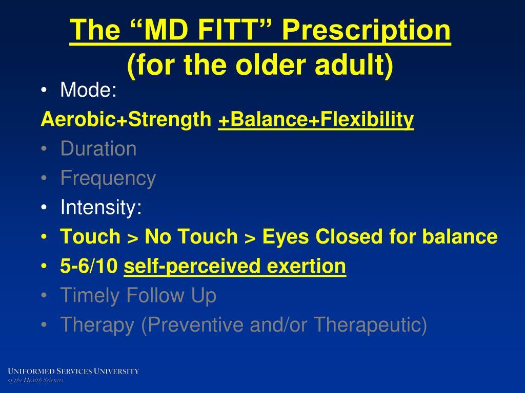 """The """"MD FITT"""" Prescription"""