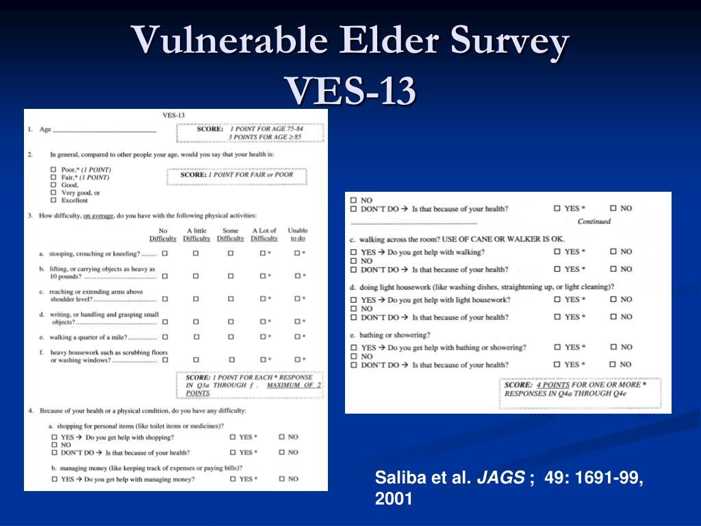Vulnerable Elder Survey