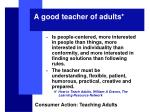 a good teacher of adults