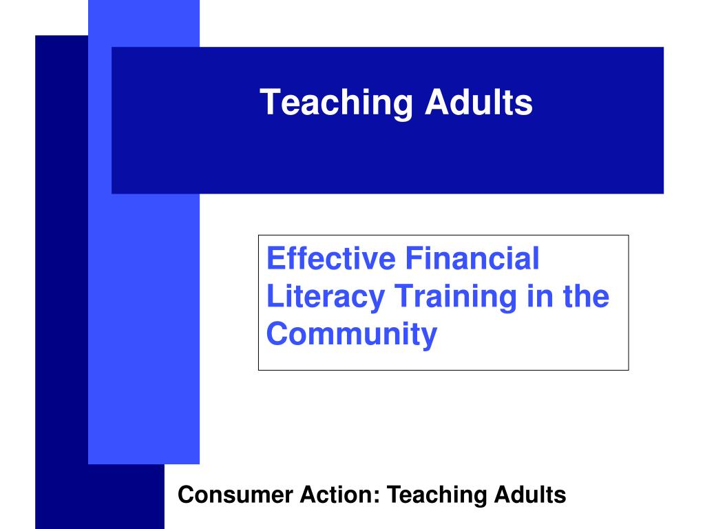 effective financial literacy training in the community l.