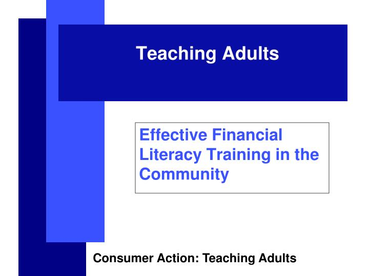 effective financial literacy training in the community n.