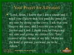 your prayer for salvation