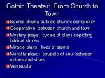 gothic theater from church to town
